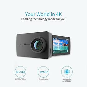Экшн-камера Xiaomi Yi 4k Black Русский язык
