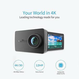 Экшн-камера Xiaomi Yi 4k Black Русский язык, фото 2