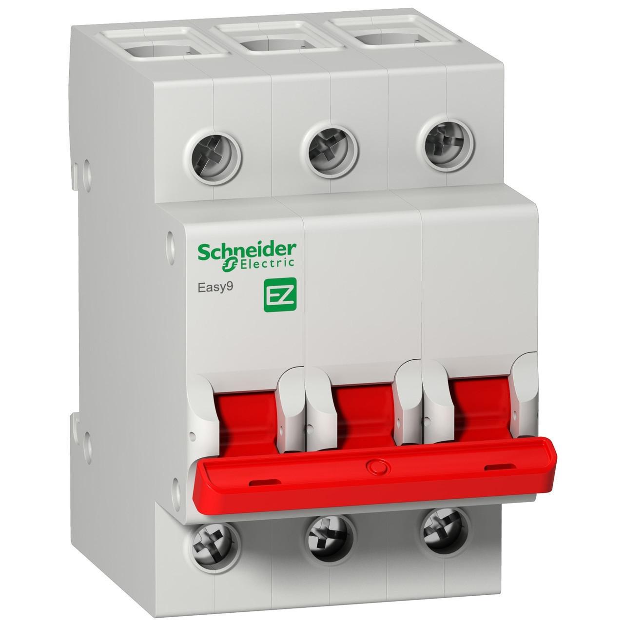Выключатель нагрузки EZ9S16392 Easy9 Schneider 3П 125A 400В