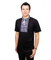 Мужская вышитая футболка гладью «Снежинка» , фото 1