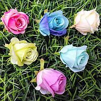Головка розы бутон 8 см (6 шт в уп)