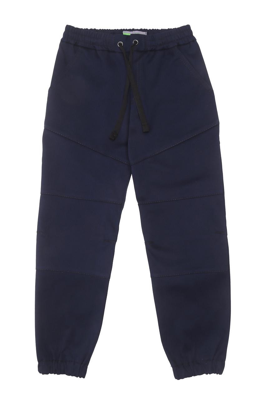 Брюки на резинке синие joggers