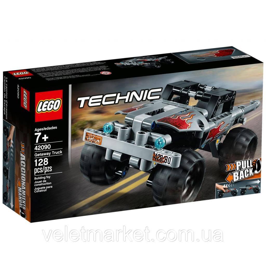 Конструктор LEGO TECHNIC Машина для побега 128 деталей (42090)