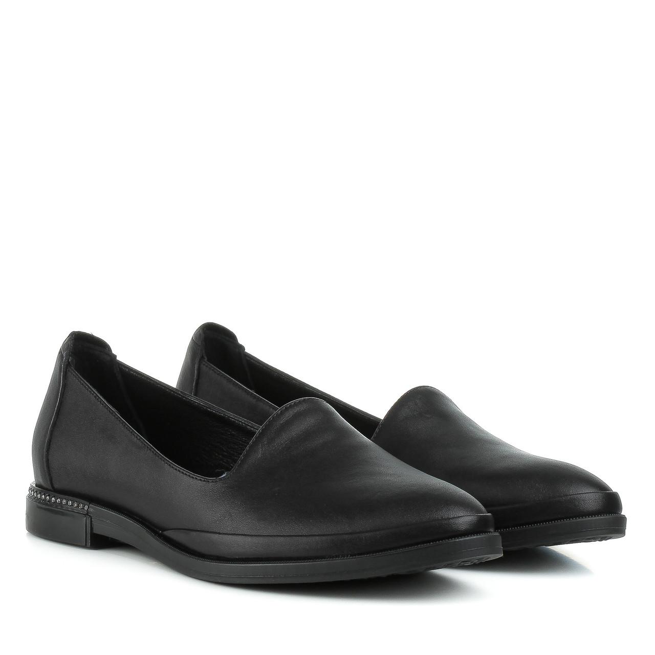 Туфли женские EVROMODA (кожаные, классические, на низком ходу)