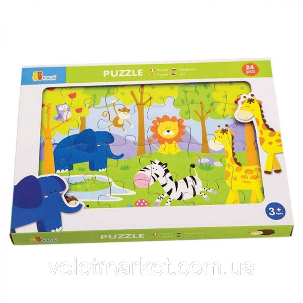 Пазл Viga Toys Сафари 24 элемента (50198)