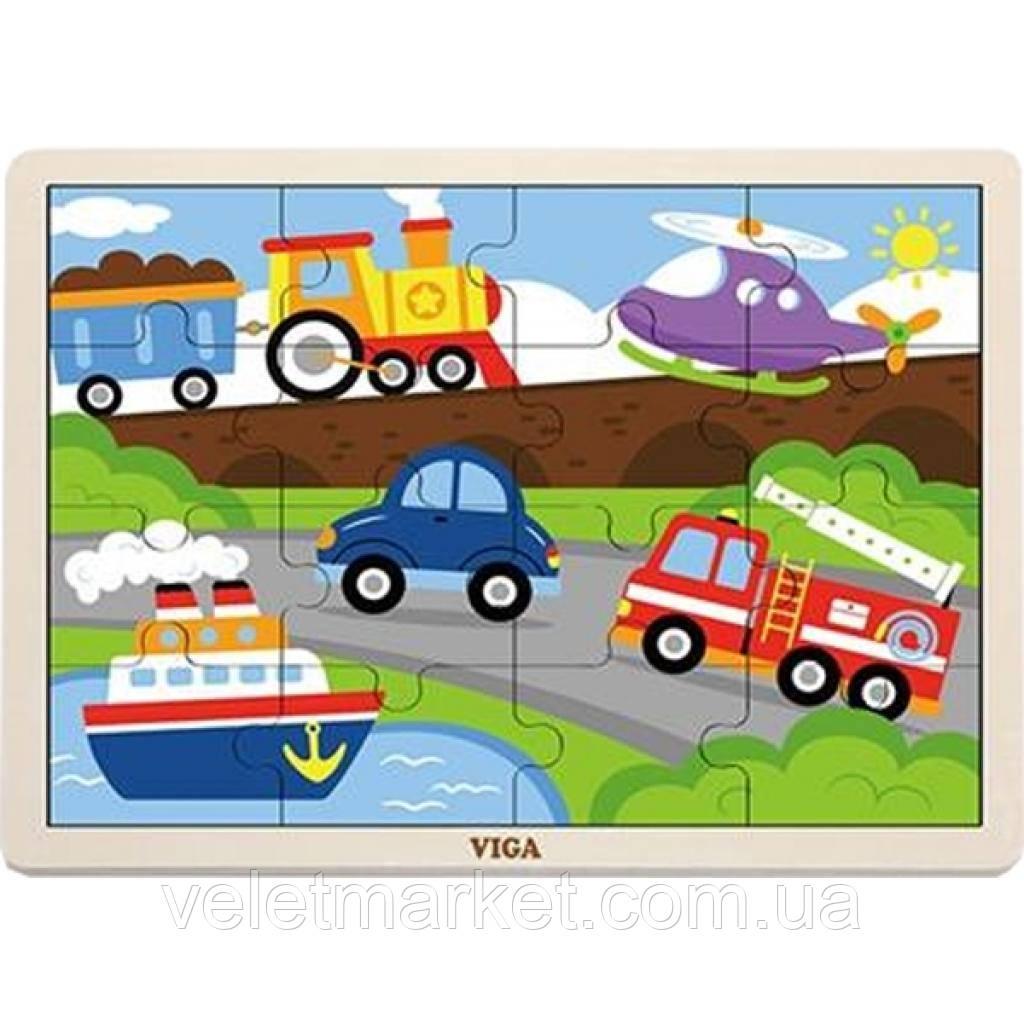 Пазл Viga Toys Транспорт (51456)