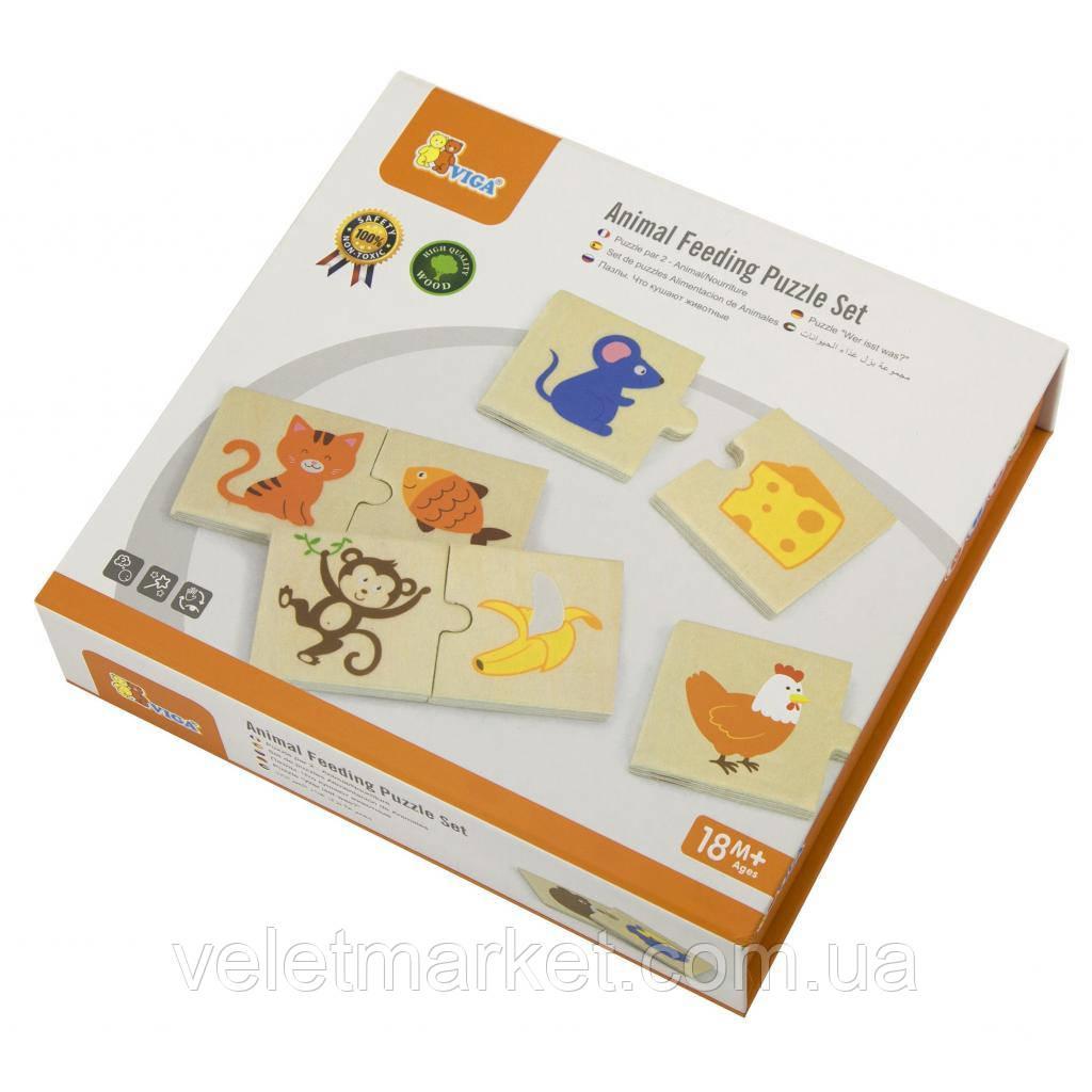 Пазл Viga Toys Что едят животные (51607)