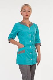 Комбинированный женский медицинский костюм