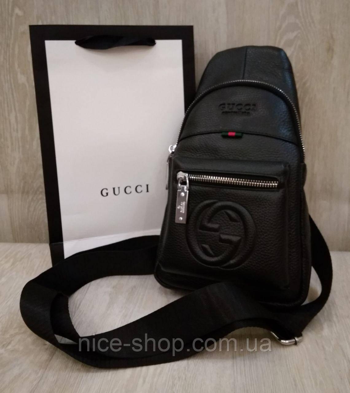Сумка слинг Gucci, кросс-боди, натуральная кожа