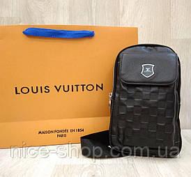 Сумка слинг Louis Vuitton кросс-боди черная, натуральная кожа