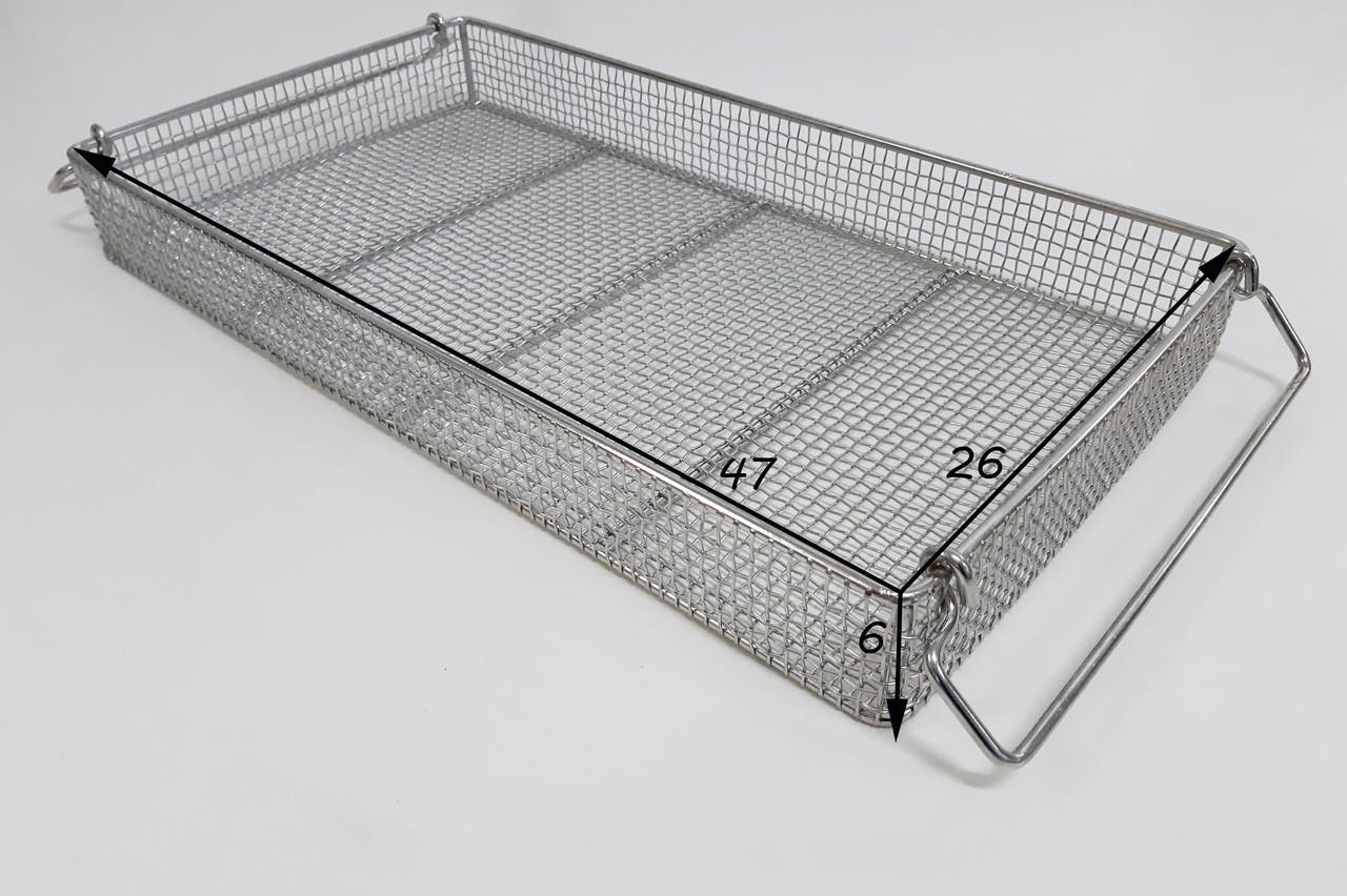 Металевий лоток для медичних інструментів. 26*47*6 см