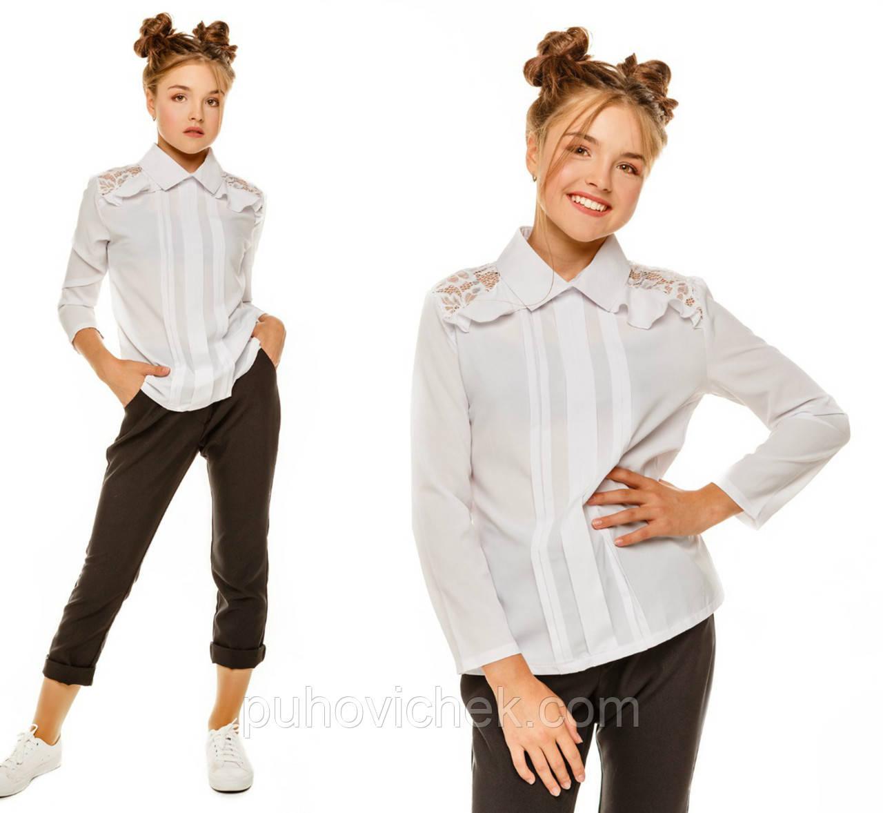 Школьные блузки для девочек интернет магазин