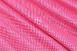 "Отрез ткани ""Густой горошек 2 мм"" на светло-малиновом фоне, №1856а, фото 4"