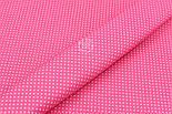 "Отрез ткани ""Густой горошек 2 мм"" на светло-малиновом фоне, №1856а, фото 5"