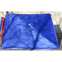 Зонт квадратный торговый 2х2м с клапаном и напылением., фото 1