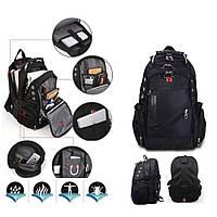 Швейцарский рюкзак WENGER SwissGear 8810 black, USB-кабелем, разъёмом под наушники (З)