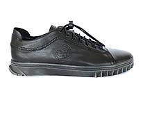 Чоловічі черевики з натуральної шкіри чорного кольору Krastfor, фото 3