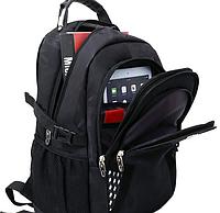 Рюкзак Швейцарский WENGER SwissGear 8810 black, USB-кабелем, разъёмом под наушники