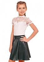 Школьная блузка с коротким рукавом Лицей (6-12 лет)