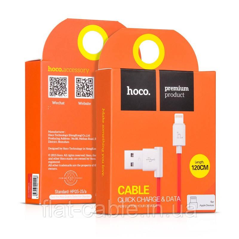 Usb cable Hoco UPL11 прямоугольный (iPhone) Красный