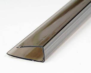 Торцевой профиль Oscar UP 4мм бронза 2100мм