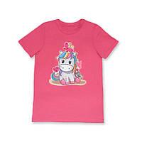 Детская стильная  хлопковая футболка для девочек с осликом