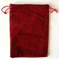 Мешочек из бархата, красный, фото 1
