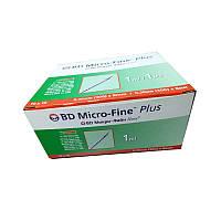 Шприц bd micro fine plus 1 мл (30G) x 8 мм, 100 шт., фото 1