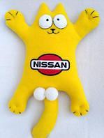 Большой мягкий кот в автомобиль на липучках - Кот Саймона в желтом цвете, фото 1
