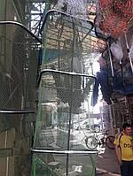 Садок рыболовный ( 2.5 , 3 ,  4 метра ) квадратный прорезиненный,нержавеющая сталь ,чехол в подарок