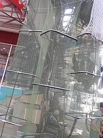 Садок рыболовный( 2.5,  3 , 4 метра ) квадратный прорезиненный,Нержавеющая сталь,Проверенно рыбаками