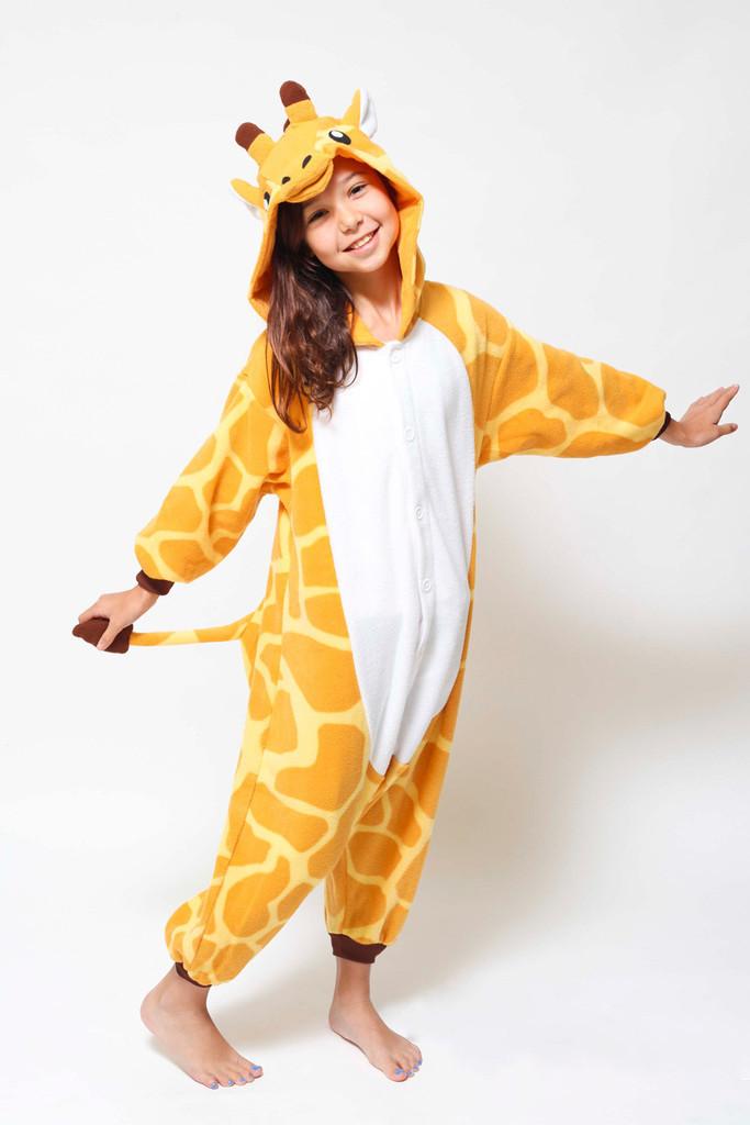 Детская пижама кигуруми жираф v10432