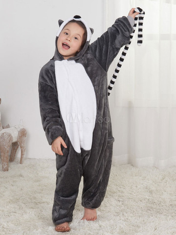 Пижама кигуруми лемур для детей v10435