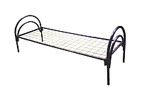 Кровать металлическая одноярусная с сварной сеткой  (ширина  830 мм)