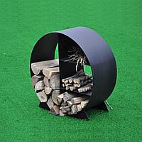 Металлическая круглая дровница, фото 1
