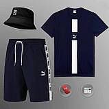 Мужской летний костюм Puma (ориг.бирка) комплект 3 в 1, фото 6