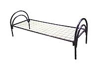 Кровать металлическая одноярусная с сварной сеткой  (ширина  900 мм)