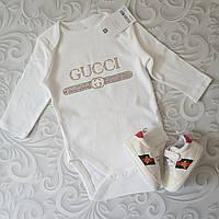 Белый боди Gucci, стразы , фото 1