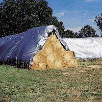 Пленка усиленная для укрытия сена, соломы