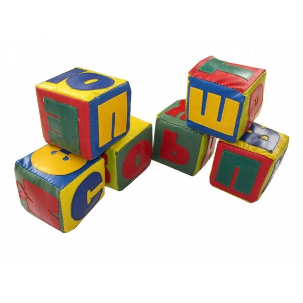 Детские мягкие кубики Алфавит 10х10х10 см (Тia-sport ТМ)