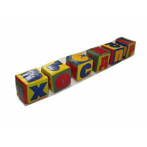 Детские мягкие кубики Алфавит 10х10х10 см (Тia-sport ТМ), фото 2