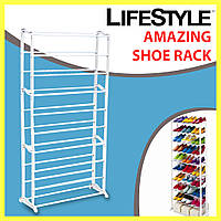 Органайзер-полка для обуви Amazing Shoe Rack на 30 пар / Стеллаж / Стойка