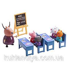 Игровой набор Peppa - Идем в школу - класс и 5 фигурок