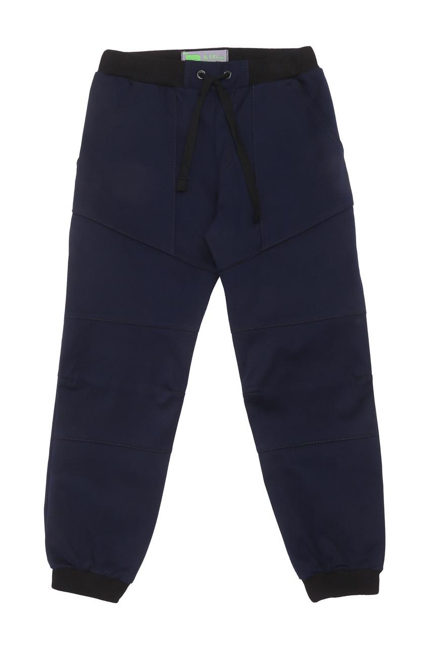 Брюки на резинке с завязками синие для мальчика
