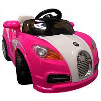 Детский электромобиль на аккумуляторах CABRIO BU с пультом управления и музыкой МР3 Розовый, фото 1