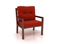 Кресло Nuvolari Бон-бон, цвет орех/марсала 700*700*800Н, фото 1