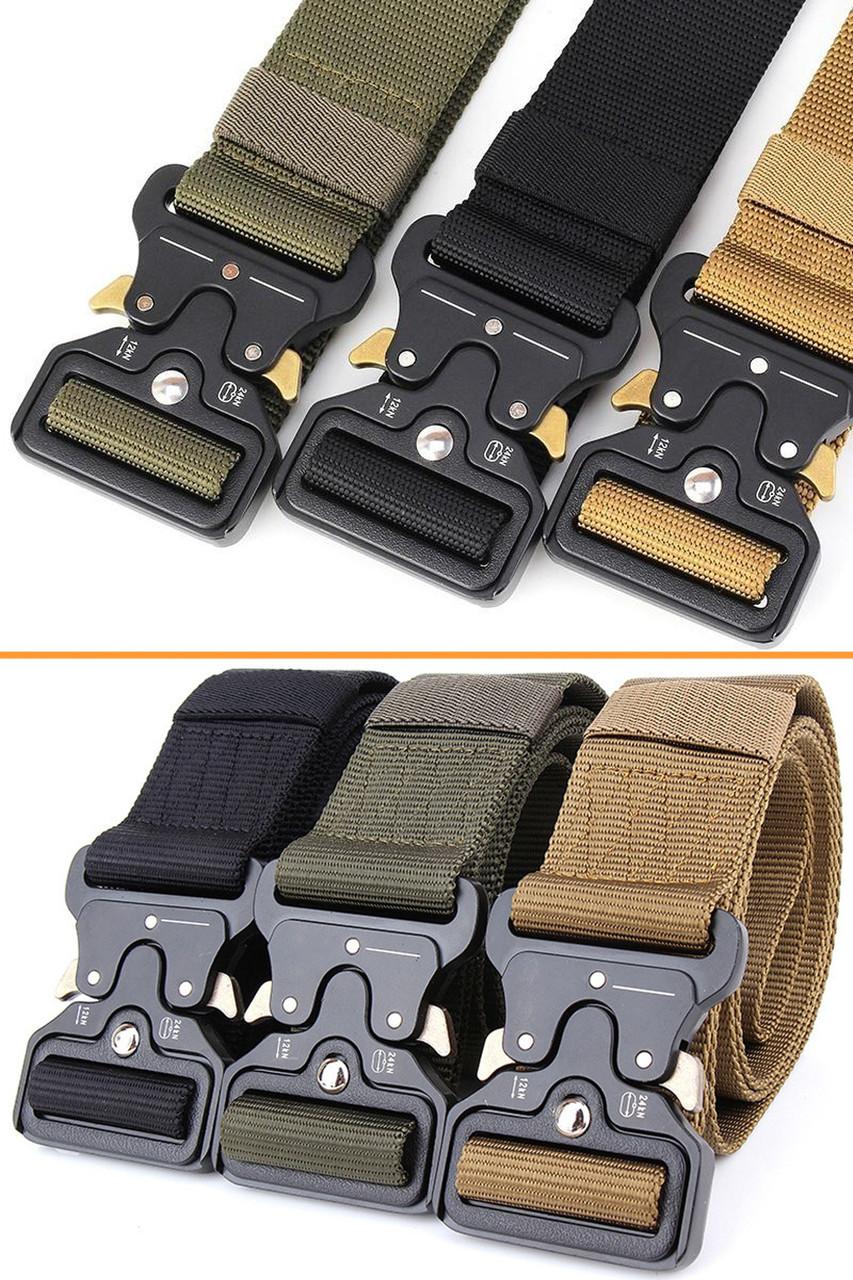 Ремень тактический Assault Belt с металлической пряжкой 145 см