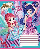 Тетради школьные Винкс Winx Patchwork-15,12 листов  линия