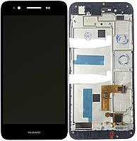 Дисплей (экран)  Huawei Enjoy 5s/GR3 (TAG-L21/TAG-L01/TAG-L03) + тачскрин (сенсор), черный, с передней панелью