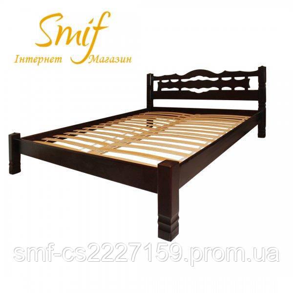 Ліжко двоспальне Інга  з натурального дерева.